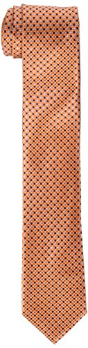 Tommy Hilfiger Mens Core - Tommy Hilfiger Men's Core Micro Tie, Orange, One Size