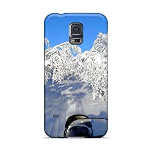 Scratch Resistant Hard Cell-phone Cases For Samsung Galaxy S5 (Ser4697ExZy) Unique Design Beautiful Discovering Finl By Snowmobile Image