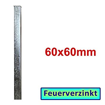 Bauer Zaunpfosten Verzinkt Zum Einbetonieren 1900x60x60x3mm