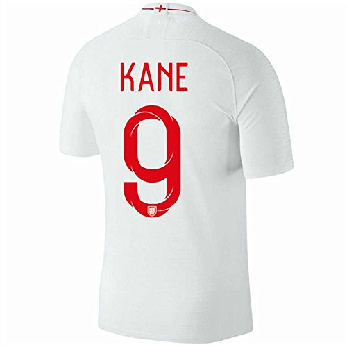 Zawhz Kane 9 England World Cup 2018 Home Men Soccer Jerseys Color White Size S by Zawhz