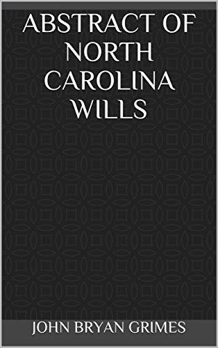 Abstract-of-North-Carolina-Wills