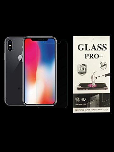 iPhone X Screen Protector, Tempered Glass with 3D Touch. 0.3mm Screen Protector Glass for Apple iPhoneX 2017 work with most cases, fingerprint proof, water proof, easy to install.