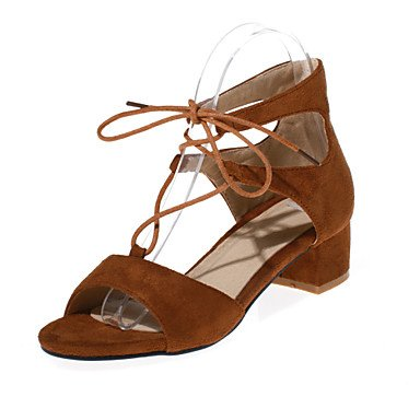 Zormey Women'S Shoes Velvet/Chunky Heel/Platform/Open Toe Heels Dress Black/Brown/Burgundy US7.5 / EU38 / UK5.5 / CN38