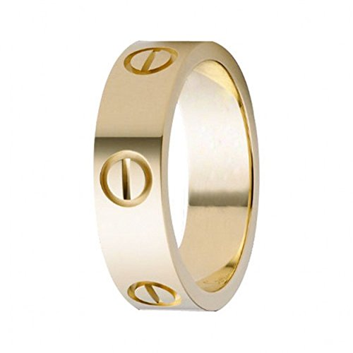 Cartier Love Ring - XUELE Love Ring-Gold Lifetime Just Love You 6MM in Width Sizes 8
