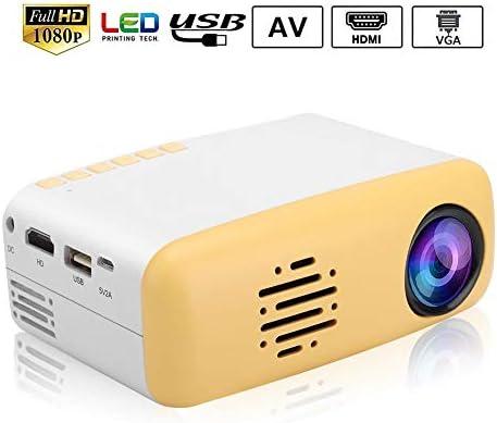 Mini proyector LED 1080P HD, Tarjeta HDMI/AV/USB/SD Video Música ...
