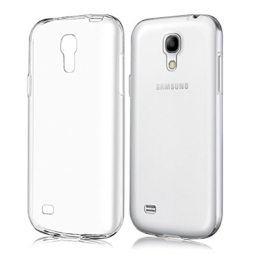 kwmobile Crystal Case for Samsung Galaxy S4 Mini - Soft Flexible TPU Silicone Protective Cover - Transparent