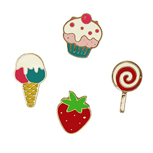 Lollipops Set (Romanlin Brooches Pin Set for Teens Enamel Cute Mini Ice Cream Strawberry Lapel Pin Badges for Backpack Clothing Decor)