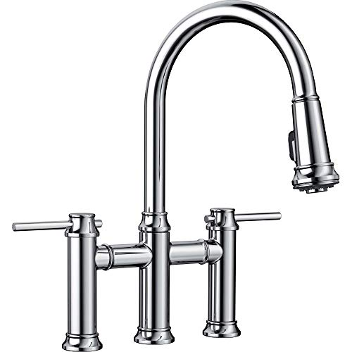 BLANCO 442504 Empressa Bridge Pull Down 1.5 Gpm Chrome,
