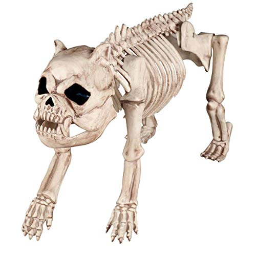 XXHDYR Halloween Horror Decoration Dog Model Animal Skeleton Haunted House Bar Props Halloween Supplies