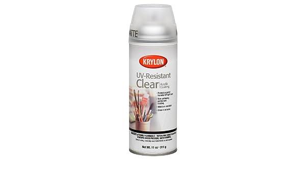 Krylon 1309 galería serie artista claro y revestimientos aerosol, Logo, resistente a los rayos UV mate: Amazon.es: Bricolaje y herramientas