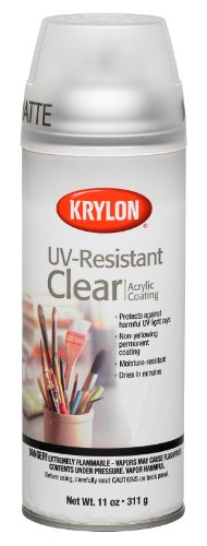 Krylon K01309 Gallery Series Artist and Clear Coatings Aerosol, 11-Ounce, UV-Resistant (Clear Coating)