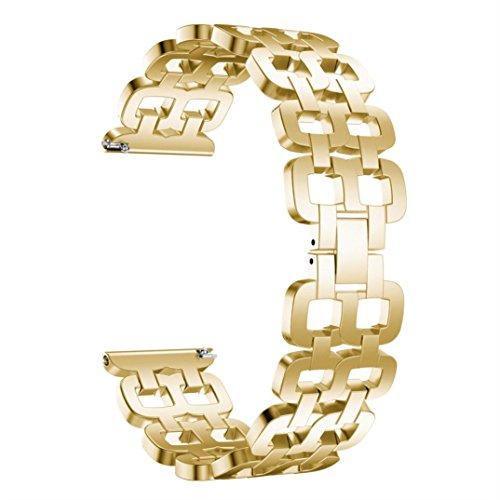 Celendi_Watch Band Stainless Steel Double Orifice Bracelet Smart Watch Strap for Samsung Gear S3 ()