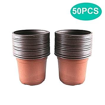 50 Pcs 15 Cm Plastique Plante Pots De Fleurs Pot De Semis Pepinieres