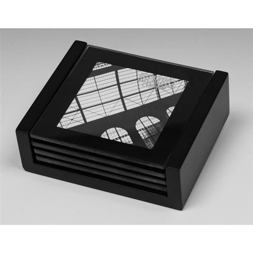 Set Of 4 Glass Photo Frame Coasters Insert Your Own Photographs