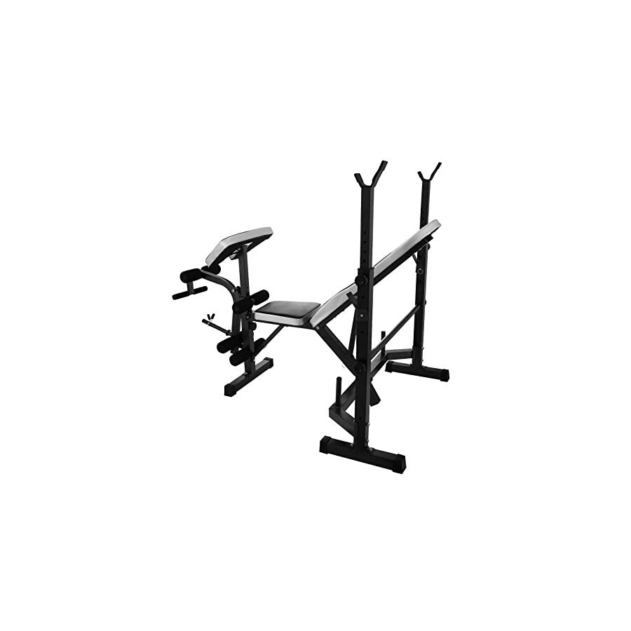 Mophorn Weight Bench Multi Function Weight Benches 660 LBS/882 LBS Capacity Adjustable Weight Bench with Leg Developer Workout Bench Fitness Equipment Ideal for Indoor Exercise