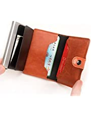 Automatic Smart Wallets - Anti-Theft 12 Cards Capacity - Brown
