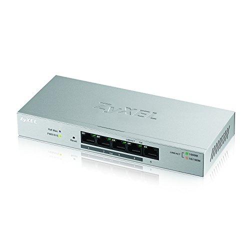 Zyxel 5-Port Gigabit Ethernet Web Managed PoE Switch with 60 Watt Budget [GS1200-5HP]