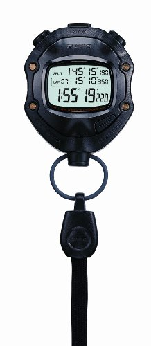 Casio HS 80TW 1EF Digital Black Stopwatch