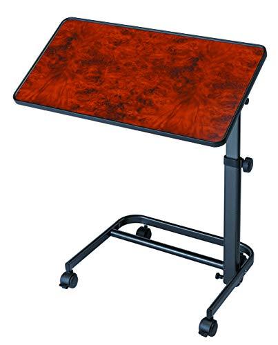 Queralto Mesa auxiliar para cama, silla o sofa, color nogal, tablero 40 x 60 cm