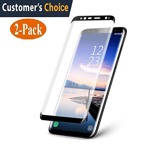 Samsung Galaxy S9 Plus Tempered Glass Screen Protector,[2-Pack]-9H Hardness,Anti-Fingerprint,Ultra-Clear, Full Coverage,Bubble Free Screen Protector for Galaxy S9 Plus