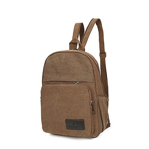 Amazon.com : Men Bags All Season Canvas Backpack Zipper for Casual Sports Khaki Coffee Black Green, Black : Sports & Outdoors