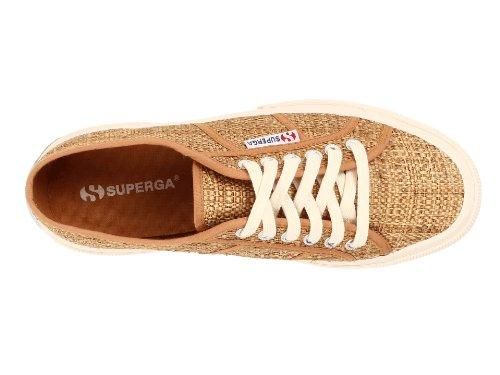 Superga Womens 2750 Rafiaw Fashion Sneaker Lichtbruin