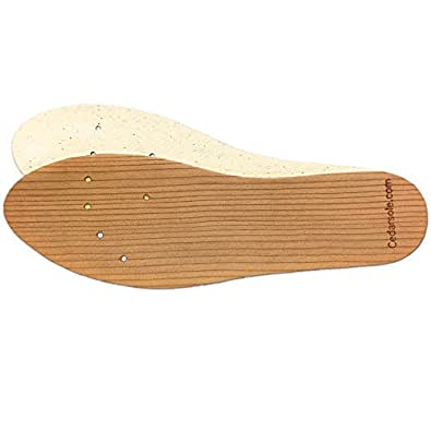 Natural Foot Odor Eliminator - Cedarsole Wood Shoe Insoles (Men's 6, Women's 7)