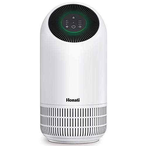 Honati Air Purifier for Home,Small Air Cleaner to Eliminates Hairs, Dust, Pollen, Mold,Pet Dander for Bedroom, Office and Kitchen
