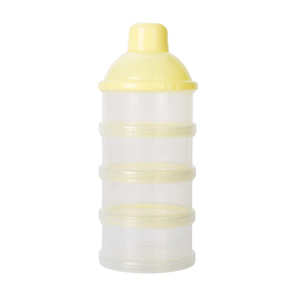 Zhen+ Milchpulver Box, 1 | 2 | 4 | Stü ck 4 Schichten Portabel Sä ugling Milchpulver Box, Babynahrung Milchpulverspender Milch-Box Herausnehmbare Tragbare Milch-Box fü r Reise im Freien (Blau, 1pc)