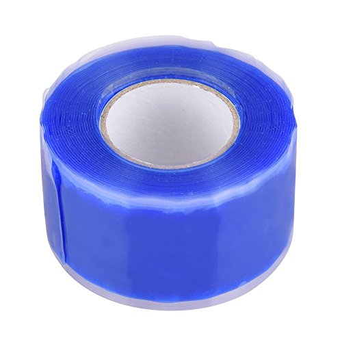 Silicone Repair Tape Multi-fuction Performance Waterproof Rubber Self Fusing Tape Emergency adhesive Rubber Self Fusing TapeBonding Rescue Wire Hose Garden Connector Wire Tape (Blue)