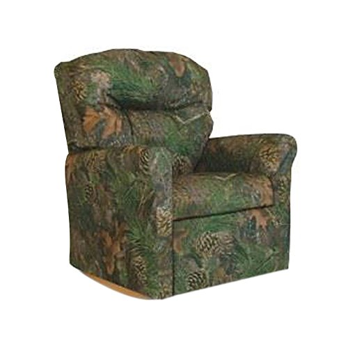 Dozydotes Child Rocker Recliner Contemporary Camouflage Green - True Timber DZD10738 by Dozydotes