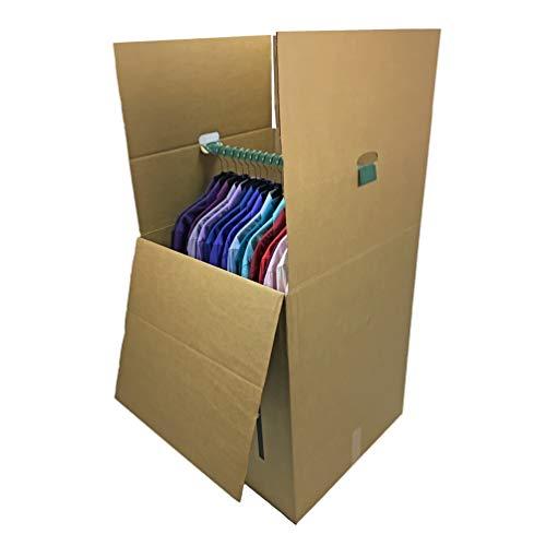 Uboxes BOXMINIWAR06 Shorty Space Saving Wardrobe Moving Boxes (Bundle of 6) 20'' x 20'' x 34'' Moving Boxes by Uboxes (Image #1)