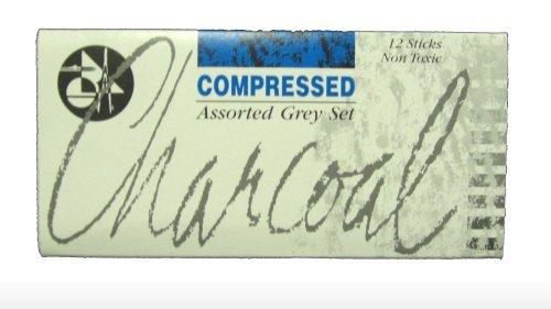 Jakar Assorted Greys Compressed Charcoal Stick (pack Of 12) JAK 7623