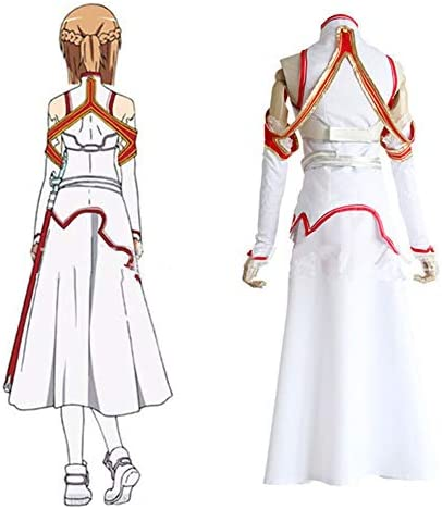 ALTcompluser Anime Sword Art Online SAO Asuna Cosplay Kostüm Damen Partyzubehör( S )