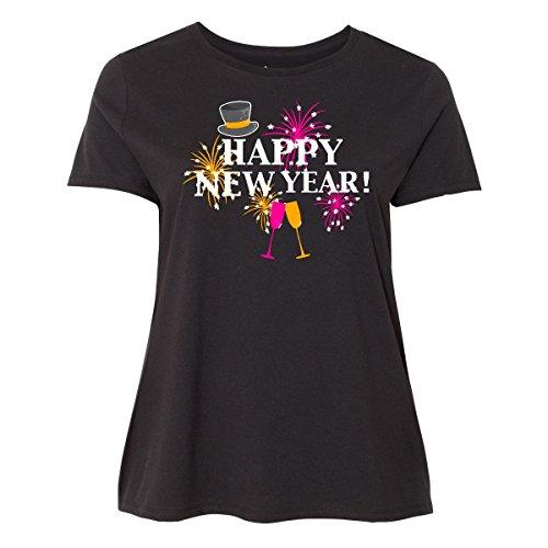 inktastic Happy New Year With Women's Plus Size T-Shirt 4 (26/28) Black 2da36