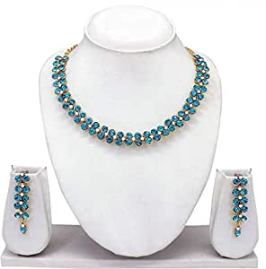 Amazon.com: Woman Necklace Gold with Diamonds and Sapphire