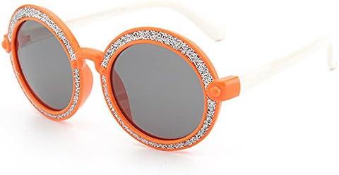 Brillante Forma Redonda Gafas de Sol para Niños Flexible Gel de Sílice  Marco Lentes polarizadas Protección UV400 Niñas y Niños de 3 a 12 Años con  Caja de ... 8bdc695ab3b0
