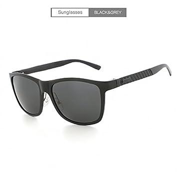 Man&Y Gafas de Sol polarizadas de los Hombres Gafas de Aluminio de la Vendimia Hombre Diseñador