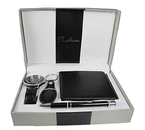 Mens Gift Set (includes a watch, wallet, pen and keychain)