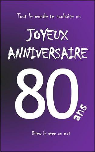 carte d anniversaire 80 ans Buy Joyeux anniversaire   80 ans: Livre d'or à écrire   taille M