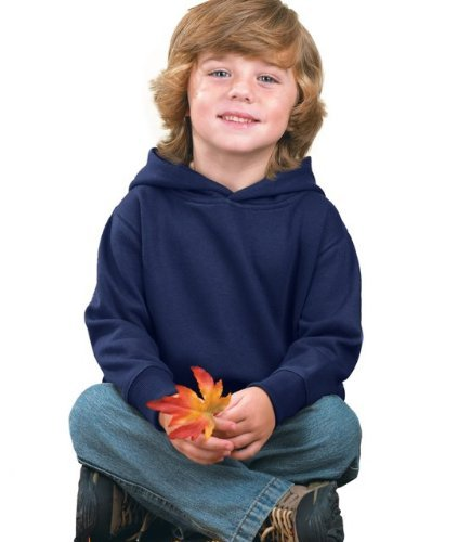 Rabbit Skins Toddler Pullover Hooded Sweatshirt (M-3326) Available in 12 Colors 4T Navy