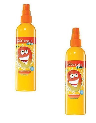 2 x Avon Naturals magnificent mango crazy hair tamer/detangler