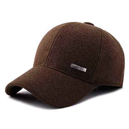 Gisdanchz Winter Baseball Cap Ear Flaps Sporting Goods Hats Dad Fashion Hats Dem Hat Run Cap Hats Summer for Men Caps Cotton Unisex Clothes Women Hats for Men Low Profile Coffee