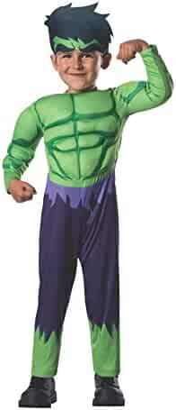 Rubie's Baby Boy's Marvel Classics Avengers Assemble Muscle Chest Hulk, Multi, Toddler