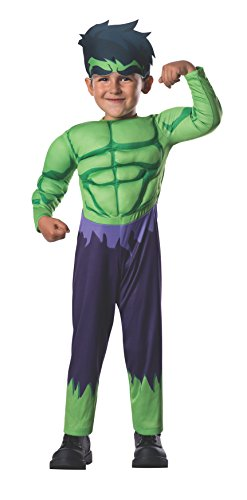 Marvel Rubie's Baby Boy's Classics Avengers Assemble Muscle Chest Hulk, Multi, Toddler