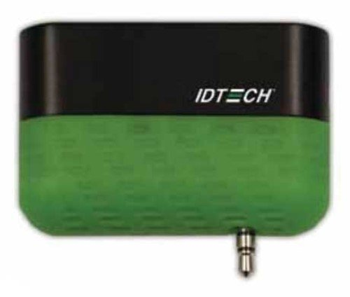 ID Technologies ID-80110010-001 Shuttle Secure Mobile MagStripe Reader, Track 1 and 2, Green (Idtech Reader Card)