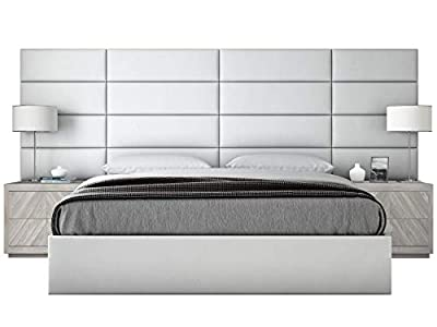 """VANT Upholstered Headboards - Accent Wall Panels - Packs of 4 - Color Choices - 5 Texture Types - 39"""" or 30"""" Wide x 11.5"""" Height King - Queen - Full - Twin Size Headboards ..."""