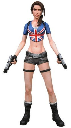 Neca Player - NECA Player Select Exclusive Series 1 Action Figure Lara Croft Union Jack Out...