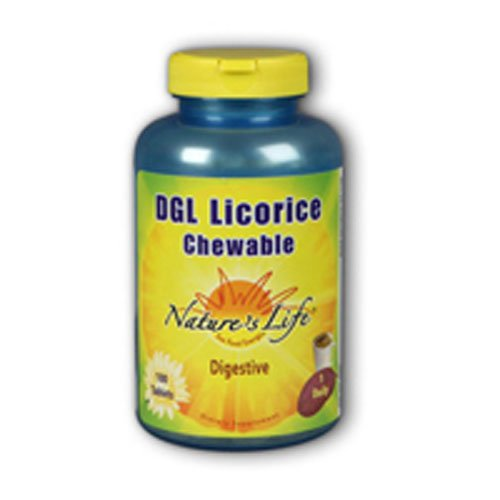 DGL Licorice Chewable, 380 mg, Mocha 100 chews by Nature's Life (Pack of 3)