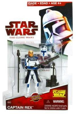 Star Wars The Clone Wars 2009 Series Captain Rex Figure CW24 3.75 Inch Scale Action Figure